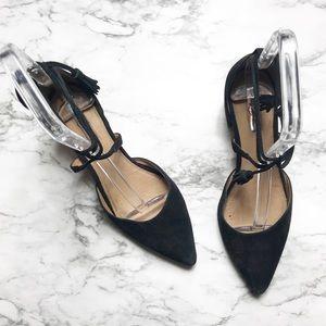 |•Halogen•| Suede Ankle Wrap Heels